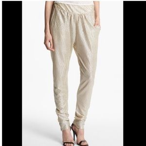 NWT Knot Sisters Gold Shimmer Joggers